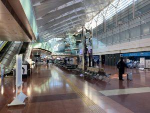 緊急事態宣言下の羽田空港