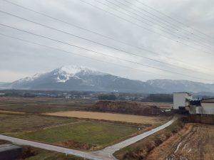 新幹線からの風景、車窓
